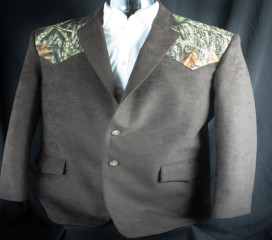 Chocolate Ultrasuede Sport Coat, New Mossy Oak ® Breakup Yoke Wedding
