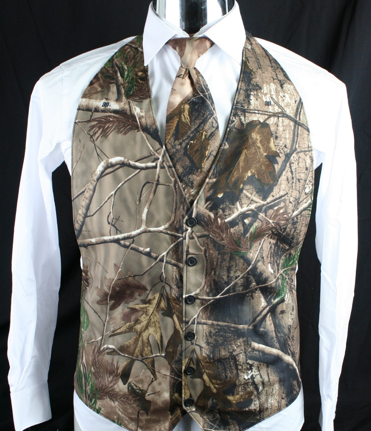 the formal sportsman realtree ap camo backless vest formal and wedding