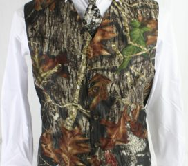 Formal New Mossy Oak Break-Up ®  Camo Full Back Vest Formal and Wedding