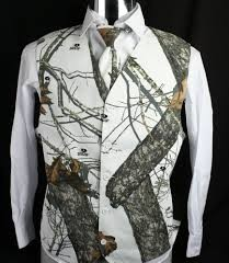 The Formal Sportsman Mossy Oak Winter Brush ®  Camo Full Back Vest Wedding