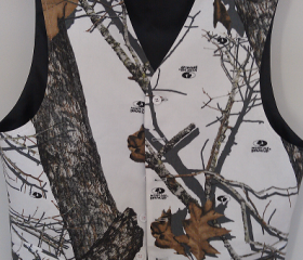 The Formal Sportsman Mossy Oak Winter Brush ®  Camo Full Back Vest Formal and Wedding