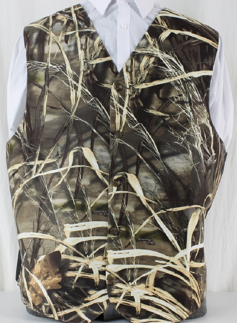 enjoy discount price cheap price 2018 sneakers Realtree Max-4 Full Back Adjustable Vest with Black Satin Back   The Formal  Sportsman