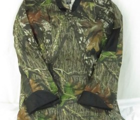 New Mossy Oak Break-Up licensed Camo Chef Coat -French Cuff Sleeves, Traditional Collar